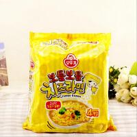 韩国进口方便面不倒翁奥土基芝士拉面111g四连包速食煮面