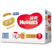 [当当自营]Huggies好奇 金装尿裤 小号S120片(适合4-8公斤)箱装 尿不湿