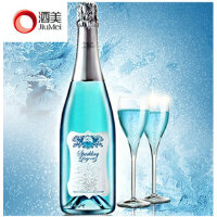 酒美网 法国原瓶进口红酒 蓝精灵专利蓝色起泡酒葡萄酒