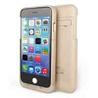 包邮!现代演绎D6iPhone6/plus背夹电池 苹果6移动电源 备用电充电宝手机壳 金色 5.5寸4800毫安