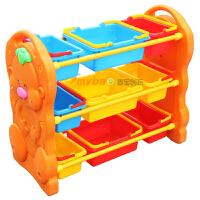 【当季好货】麦宝创玩 熊宝宝塑料 3层彩色玩具陈列架 收纳架 儿童玩具收拾架