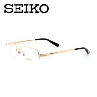 精工seiko 男士纯钛半框光学眼镜架 商务型近视眼镜框 配近视眼镜 HT01078
