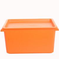 卡秀小号多用途桌面收纳箱整理箱 化妆箱 美容工具箱 橙色