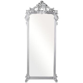 欧式理发镜 落地穿衣镜试衣镜 客厅卧室全身镜子仪容镜 金色含木架