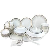 Brocade/锦 骨质瓷48头日月潭中餐具 10人份餐具套装 陶瓷