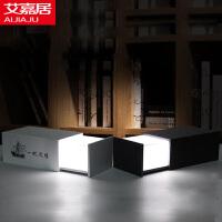 艾嘉居 潘多拉魔盒音箱台灯 USB充电护眼无极调光灯 多功能木质蓝牙魔音音响LED小夜灯