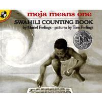 "Moja Means One (Caldecott Honor Book)《不一样的""一""》(1972年 凯迪克银奖绘本 ISBN9780140546620)"
