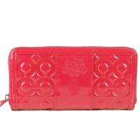 蔻驰(COACH)钱包女士漆皮手拿包拉链长款钱包钱夹卡包42427女士钱包