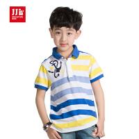 季季乐jjlkids童装男童夏季短袖T恤大童时尚休闲polo翻领短袖T恤BXT51053