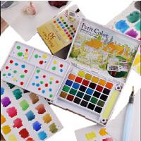 樱花 荷兰泰伦斯24色固体水彩颜料 18色30色透明固体水彩颜料套装,颜色鲜亮 写生绘画漫画上色手绘 颜料!