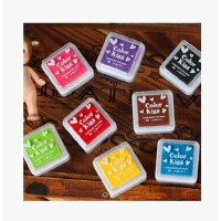 八色盒装印油印泥 印章小印章用印油 印泥 DIY相册