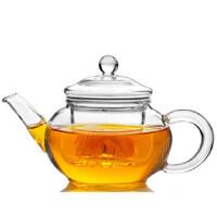 楼龙 创意耐热玻璃壶 过滤普洱红茶迷你功夫茶具 水果花茶壶    CF-125    1605