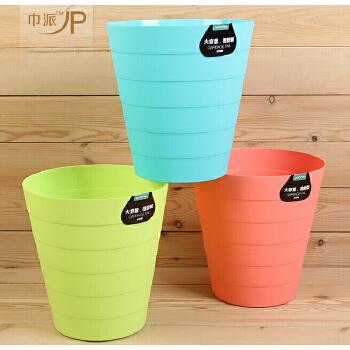 雨竹4057小号竹节垃圾桶 优质塑料垃圾桶