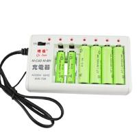 电池充电器可充5号7号5号可充10节7号可冲2节数码家用充电电池儿童玩具配件