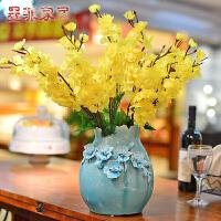 墨菲手工花瓶 欧式现代创意简约装饰品客厅摆件陶瓷美式仿真花艺