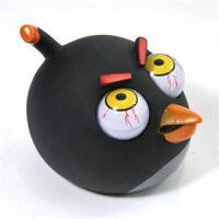 想飘家居 愤怒的小鸟发泄爆眼公仔-大号(黑鸟) XN38