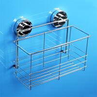 韩国dehub吸盘不锈钢 250高瓶架 置物架 不锈钢卫生间架子浴室沐浴露收纳架  银色