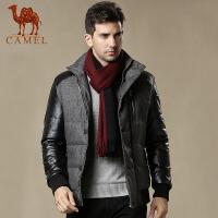camel 骆驼男士棉衣 抗皱耐磨 防风保暖立领拉链潮流时尚男装新款