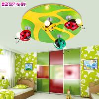 东联儿童瓢虫灯儿童吸顶灯儿童房灯饰灯具led卡通卧室灯X163瓢虫
