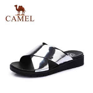 Camel/骆驼女鞋 夏季新款 韩版平底一字拖鞋女 时尚百搭拖鞋