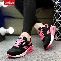 【满199减100】Galendar女子跑步鞋2017新款气垫缓震透气运动时尚慢跑鞋 JD228