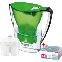 【支持货到付款】 德国  倍世BWT 厨房家用净水壶 直饮便携户外滤水壶 过滤净水杯2.7升  绿色