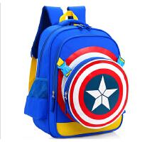 美国队长小学生书包包邮男生1-3-5年级儿童书包2-4-6男童双肩包开学礼物开学书包