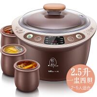 小熊(Bear)紫砂电炖锅 家用全自动陶瓷养生煲汤煮粥锅 DDZ-C25Z2