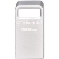 金士顿(Kingston)DTMC3 128G  USB3.1 读速100MB/s 金属U盘 银色 便携环扣 128gb