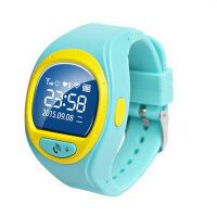 时尚果冻学生儿童孩子老人定位可插卡电话亲情通话智能电子手表