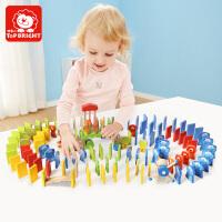 特宝儿益智玩具150粒动物桶装多米诺骨牌玩具字母数字多米诺玩具