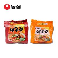 韩国进口食品 农心辛拉面 小浣熊辣味五连包+小浣熊原味五连包