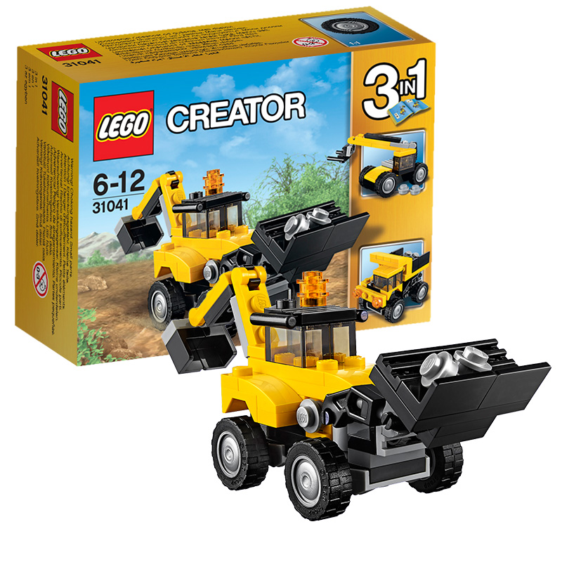 LEGO 乐高 创意百变系列 工程车辆 积木拼插儿童益智玩具 31041【当当自营】2016年新品!适合6-12岁,64pcs小颗粒积木
