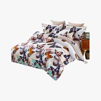 当当优品 加厚纯棉磨毛床品 双人印花床上用品床单四件套 静谧