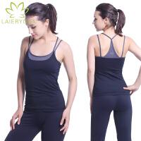 Laieryoga来尔 瑜伽服上衣新款 女 瑜珈服 愈加背心 跑步服 运动服 健身服 舞蹈服 含胸垫