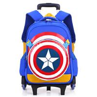 新款美国队长小学生拉杆书包包邮男童1-3-6三轮爬楼梯儿童书包开学礼物开学书包