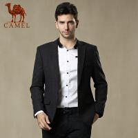 camel骆驼男装 春季新款商务休闲西服 男士修身时尚潮流服装