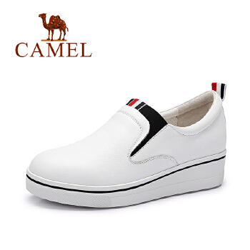 Camel/骆驼女鞋 2016秋季新款 舒适单鞋 休闲内增高鞋