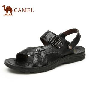 camel骆驼凉鞋 男款夏季 头层牛皮沙滩鞋  凉鞋露趾透气休闲鞋