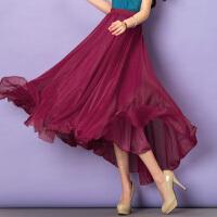 特尚莱菲  夏装新款女装雪纺半身裙海边度假沙滩大摆长裙韩版仙女裙纱裙 QQG6622