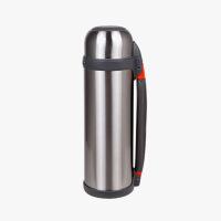 当当优品 不锈钢保温壶 户外运动旅游真空保温水瓶 本色 1.2L