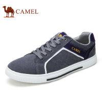 camel骆驼男鞋 男士轻盈拼接时尚 反绒皮面舒适运动休闲 滑板鞋板鞋
