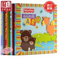 费雪3D Books系列童书4册套装 英文原版 Fisher 纸板书