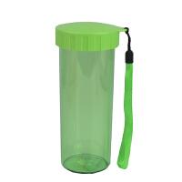 特百惠水杯430ml水杯子莹彩  个性便携透明创意塑料杯运动茶杯香瓜绿