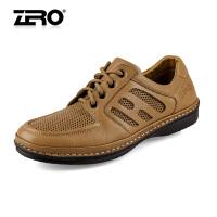 零度尚品男鞋 头层牛皮男士皮鞋 日常休闲鞋 男 低帮鞋 F9963