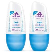 阿迪达斯(Adidas) 女士走珠香水香体止汗露液滚珠50ml 两支装清凉感觉 5589
