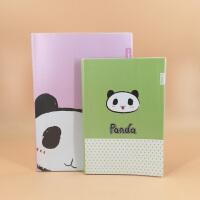 广博 卡通可爱 胶套本 学生 熊猫本 笔记本 A5 B5 记事本 64页