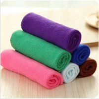韩国不沾油抹布洗碗布吸水不掉毛加厚洗碗巾竹纤维毛巾