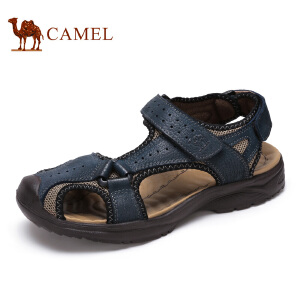 camel骆驼男鞋 夏季新款 户外休闲时尚耐磨透气沙滩男凉鞋