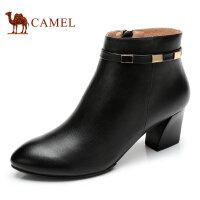 Camel 骆驼女靴  秋冬新款 时尚休闲羊皮短靴日常休闲女靴子